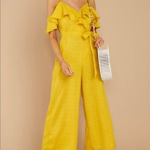 Red Dress Boutique - Yellow Jumpsuit, (Size M)